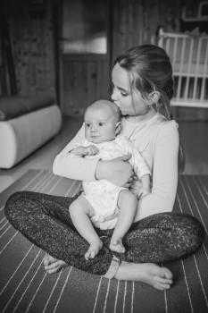 Lifestyle newborn focení
